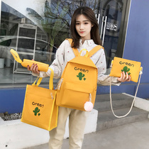 ins wind bag female Korean version of Harajuku ulzzang Junior High School students campus bf vintage backpack girl