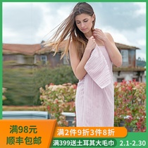 Portugal imported Lasa towel bath towel 3 sets of Nordic craft male and female couples increase towel bath towel INS wind
