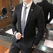 Mens business casual suit handsome single coat Korean slim small suit young students summer thin coat