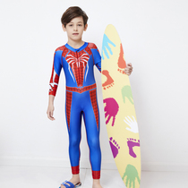 Children's swimsuit boys in the Big children long-sleeved trousers sunscreen Siamese quick-drying children baby snorkeling water clothes swimming clothes