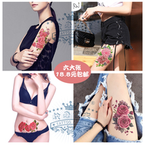 c6ac042b6 Tattoo stickers waterproof female long-lasting sexy big flower arm  caesarean section scar patch rose