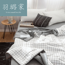 ins cotton summer was four sets of cool summer was Cotton air conditioning sheets double 2 meters net red afternoon nap summer thin quilt