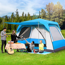 Large space automatic tents camping camping luxury villa outdoor thickening riot rain two rooms one Hall