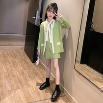 Big children's clothing girls autumn children's suits Western net Red 2019 new Korean fashion girls spring and autumn clothes
