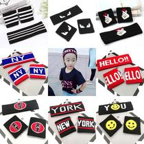 Personality show hair band childrens trend hip-hop hair accessories boys and girls running sports hair band poignet set