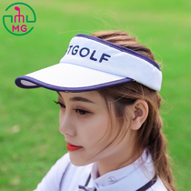 bdae73d0758 2018 summer New MEETGOLF golf lady embroidered ball cap empty top hat visor  cap