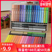 Morning light stationery large capacity watercolor pen graffiti painting children 12 24 36 48 color small fox Xi Li can be washed watercolor pen set childrens kindergarten ACPN0275