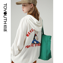 First language fall 2019 new Popeye IP Series BF wind neutral loose hooded sweater female tide