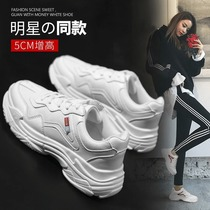 Old shoes female ins tide thick at the end of 2018 New wisdom shoes super Fire Red 2019 casual sports shoes spring
