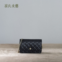 Choi Leather imported Caviar balls WOC cowhide diamond chain packets shoulder mini leather handmade womens bag