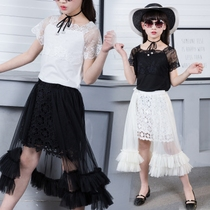 Children's clothing girls dress 2018 new style summer clothing Korean version of the tide in the Big children's little girl clothes fashion
