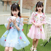 2019 summer new Korean version of girls in the children's summer tide children two sets of chiffon princess dress