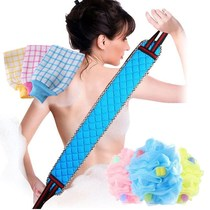 Bathing god long bath towel pullback strip strong mud ash bath gloves back brush bath towel bath ball