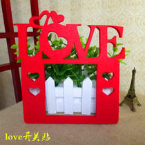 Wedding supplies wedding room switch paste thick non-woven cloth decoration wedding celebration big red letter switch set decoration