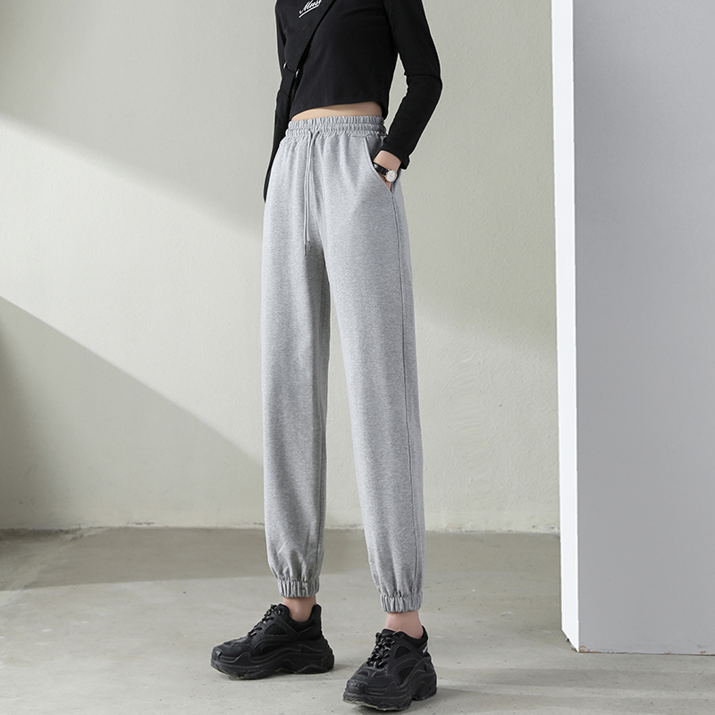 Xinjiang cotton leggings women summer thin gray 2021 spring casual pants spring and autumn thin cotton pants