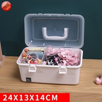 。 Cute European feng dormitory jewelry box childrens hair jewelry storage box girl heart clip rope bag containing box.