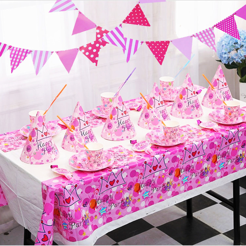 Birthday cutlery disposable baby one-year-old party decoration cartoon 6-person theme set
