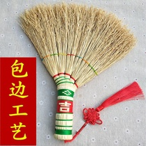 。 Rural hand-made sorghum seedlings broom broom broom bed evil moving bump slate set old-fashioned broom.