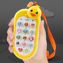 Childrens mobile phone toy girl simulation smart phone will sing boy baby puzzle early teaching 6 months phone 1 year old