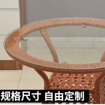 Custom-made round tempered glass table table large round table tea table transparent glass table garden glass turntable countertop