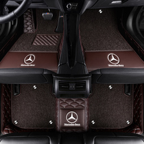 2019 Mercedes e300l foot pad e260l dedicated fully surrounded waterproof silk ring car single-piece original carpet type.