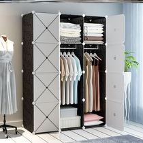 Personality cabinet modern simple wardrobe can be removed multi-functional simple god ware slicing device capacity cabinet dust proof.