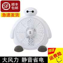 Small fan mini big wind office student dormitory bed mute home bedside desktop cartoon electric fan